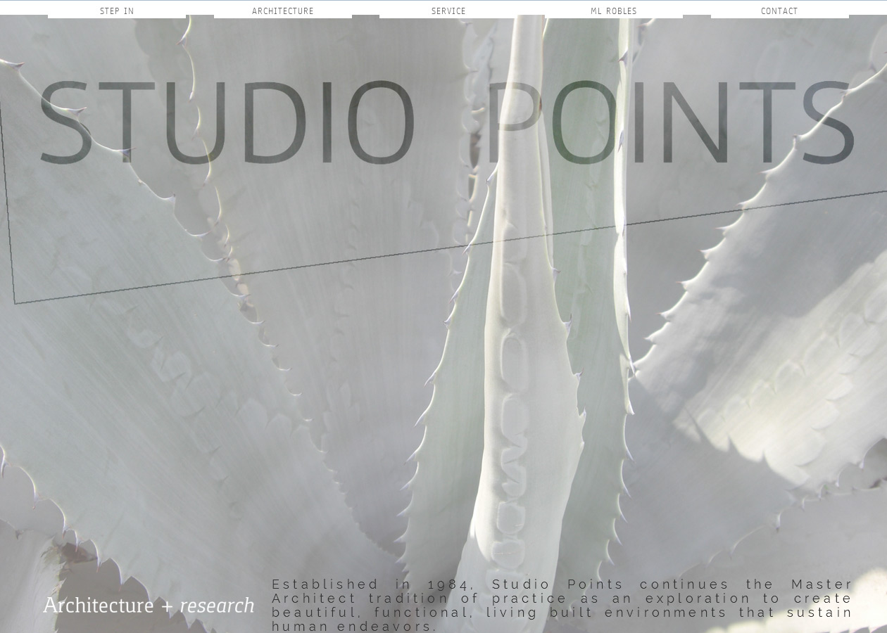 studio points architecture and research website